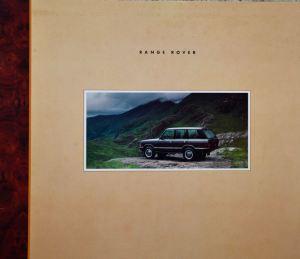 Range Rover Australia Brochure Cover January 1992