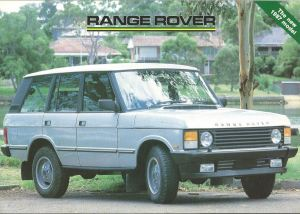 Range Rover Australian Brochure Cover 1-3-1987