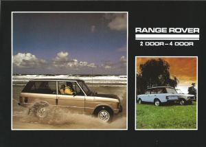 Range Rover Brochure Australia Cover May 1982