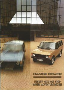 Range Rover Brochure Cover Australia March 1984