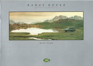 Range Rover Brochure Cover Australia October 1992