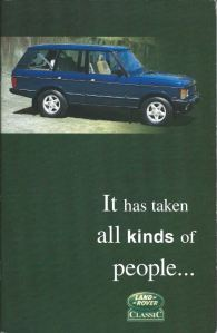 Range Rover Classic Brochure Cover Australia December 1994