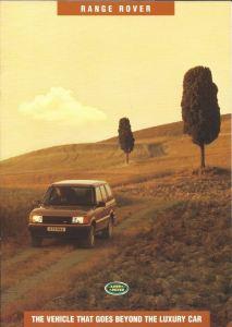 Range Rover P38 Australia Brochure Cover October 1994