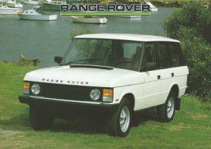 Range Rover Standard Australia Brochure Cover 1-6-1988