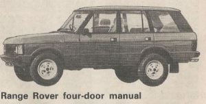 Range Rover Four Door Road Test Title Image The Open Road Feb-March 1983